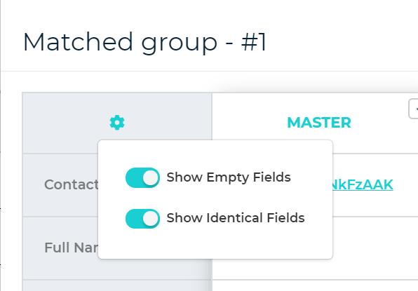 Configure dataset display fields
